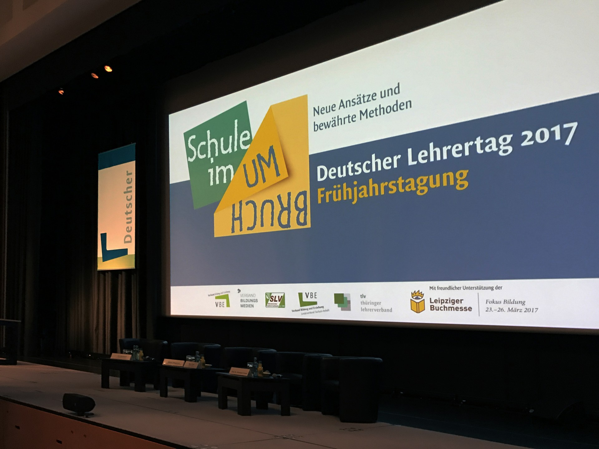 Bühnen-Gestaltung Deutscher Lehrertag Frühjahrstagung - Typoly