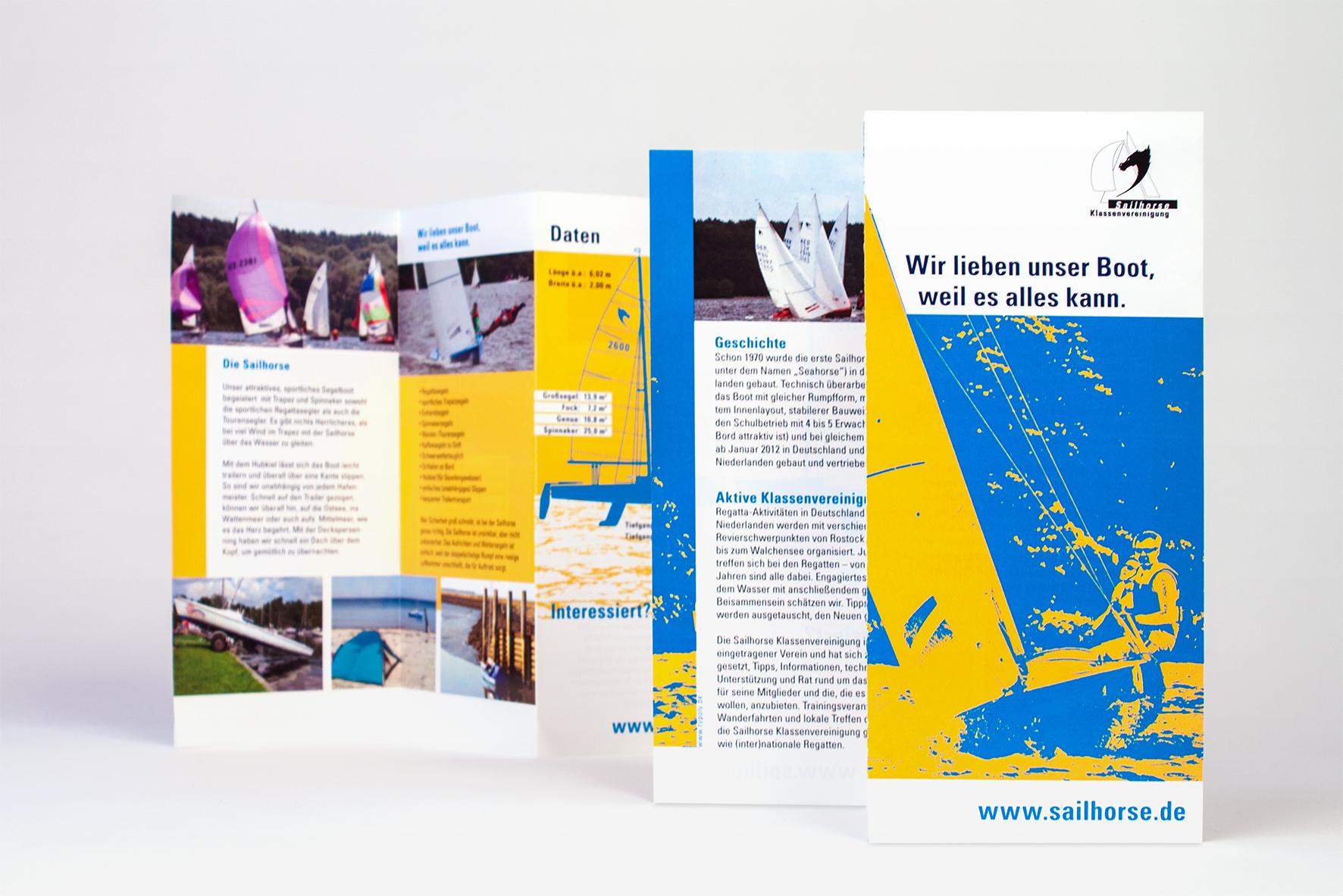 Werbeflyer für die Bootsmesse - Typoly