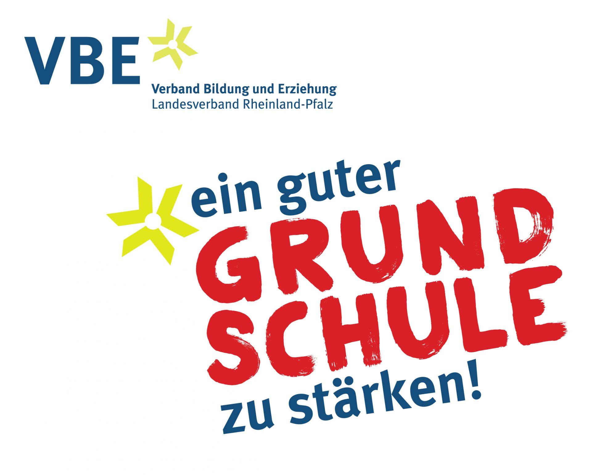 """Verbands-Logo und Entwurf des Kampagnen-Logos """"Ein guter Grund Schule zu stärken"""""""