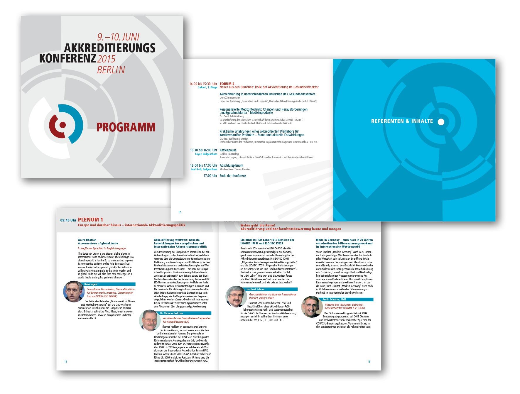 Programmheft für die Akkreditierungskonferenz - Veranstaltungsdesign - Typoly