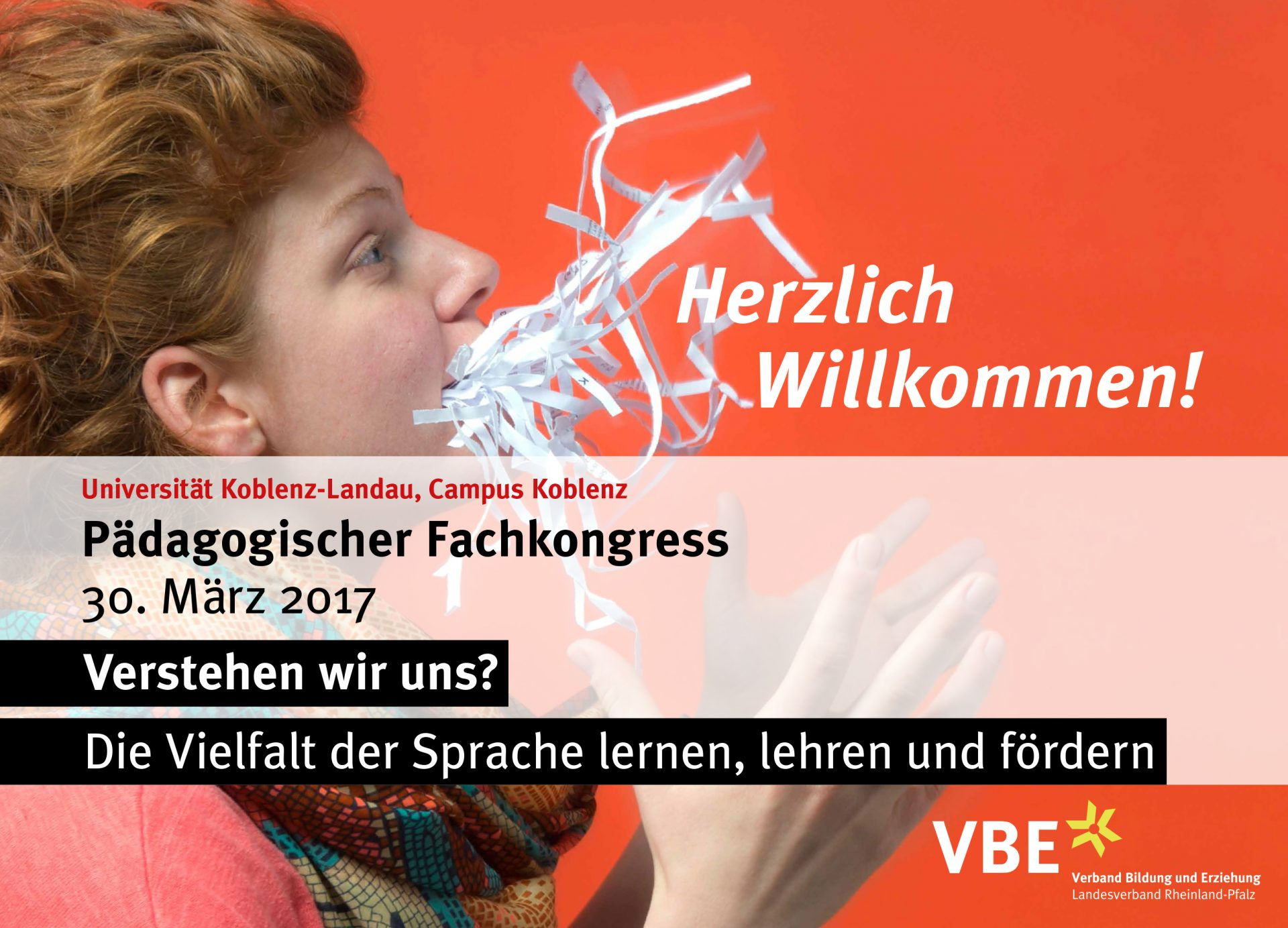 Plakat für den Pädagogischen Fachkongress - Typoly