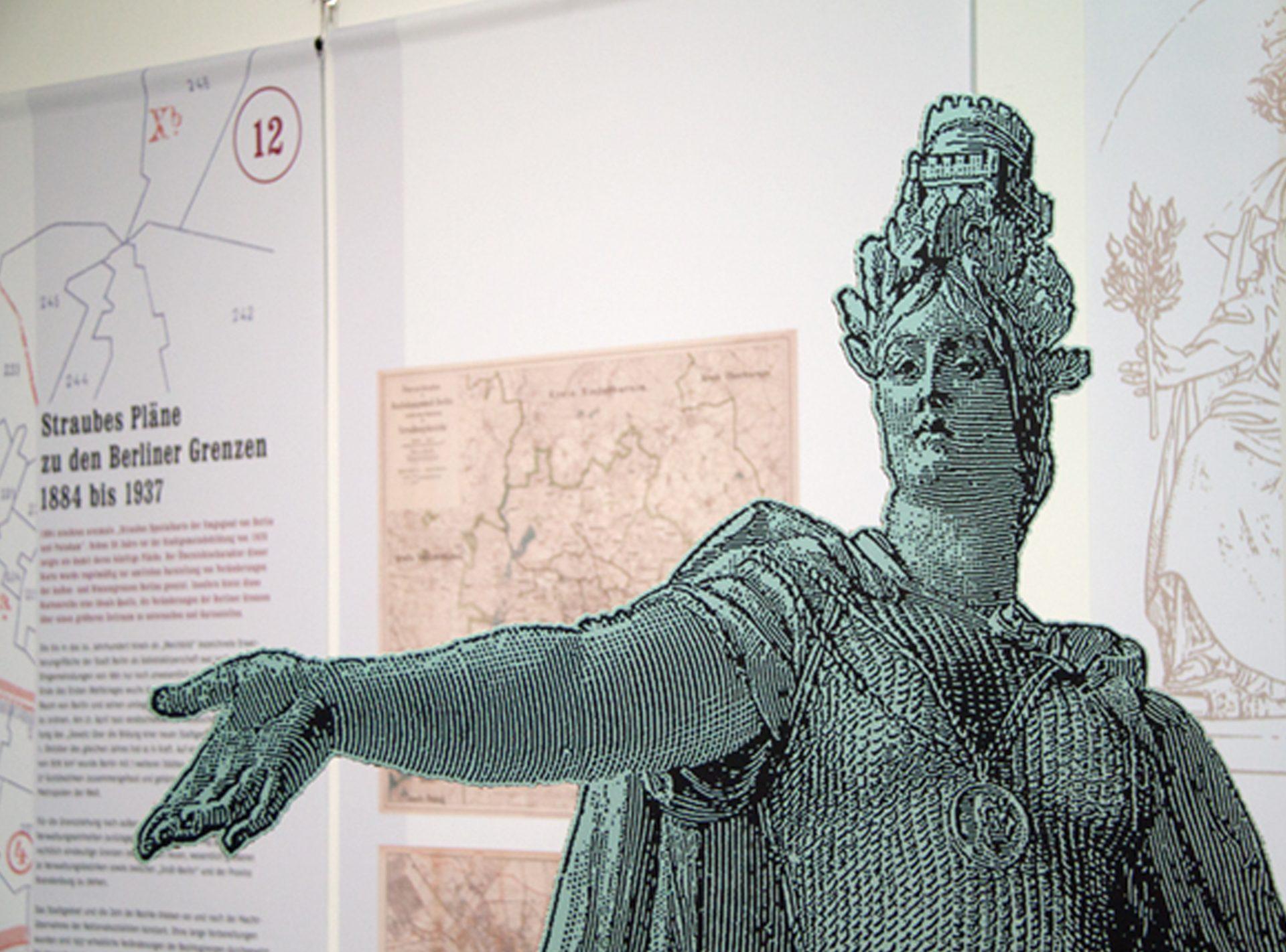 Berolina-Aufsteller im Engang der Ausstellung