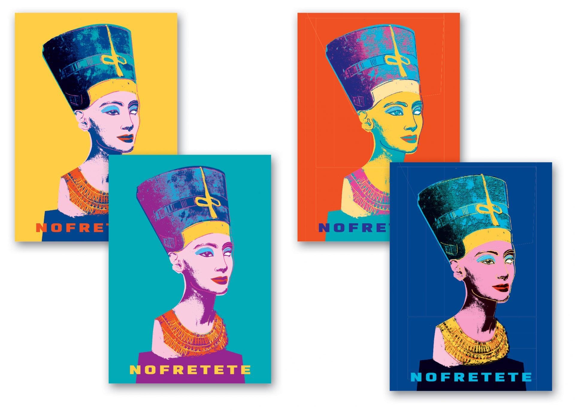 Entwürfe für Nofretete-Magnete - Typoly