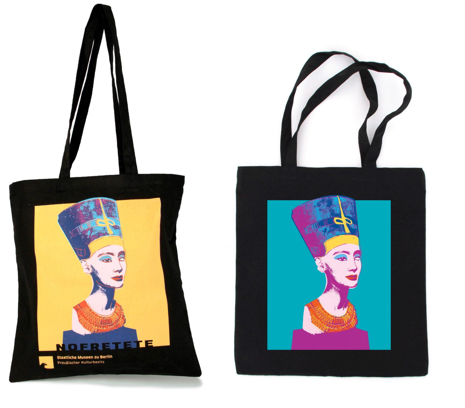 Design für bedruckte Taschen im Museumsshop - Typoly
