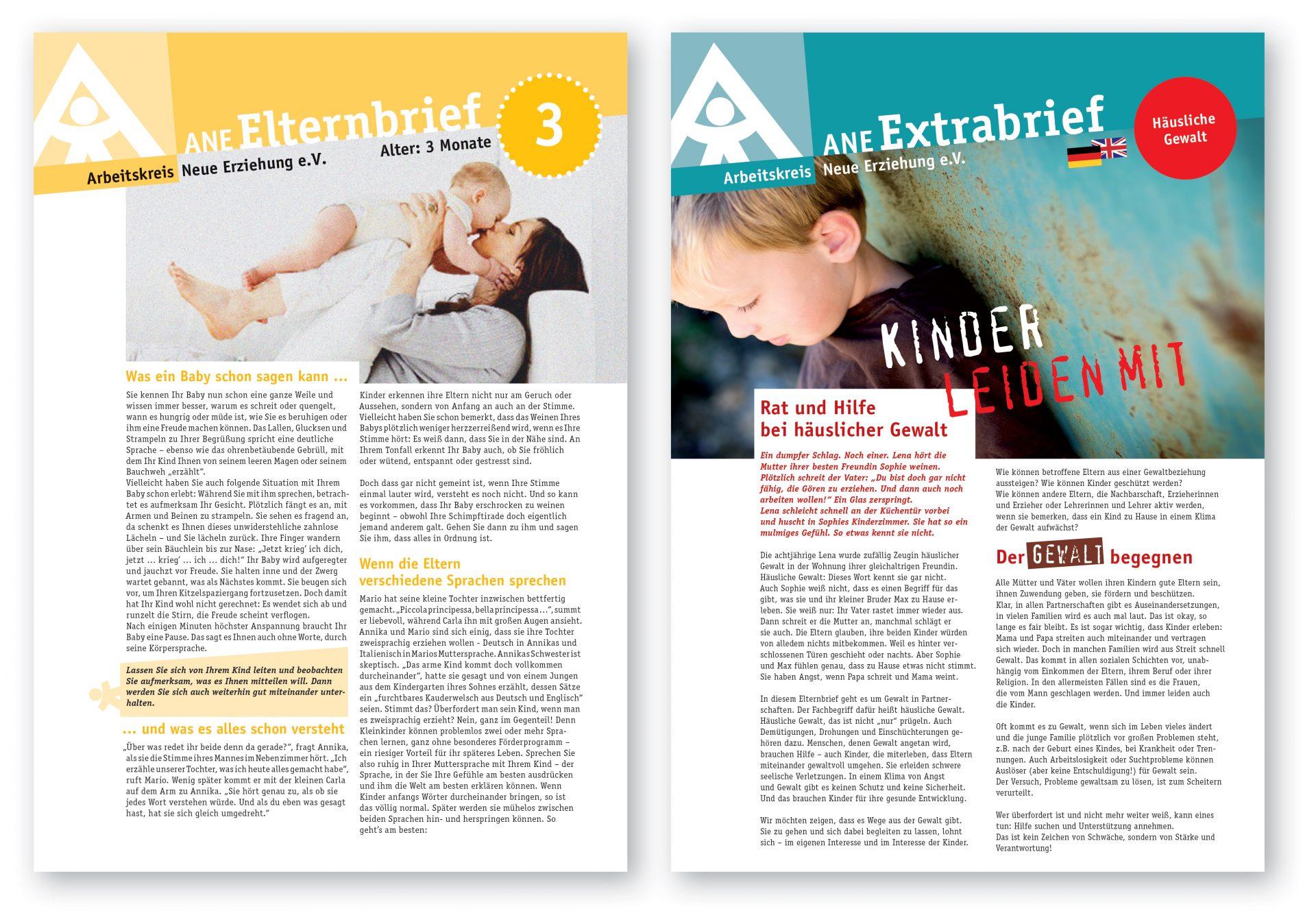 Informationsmaterial für Eltern, Titelseiten - Typoly