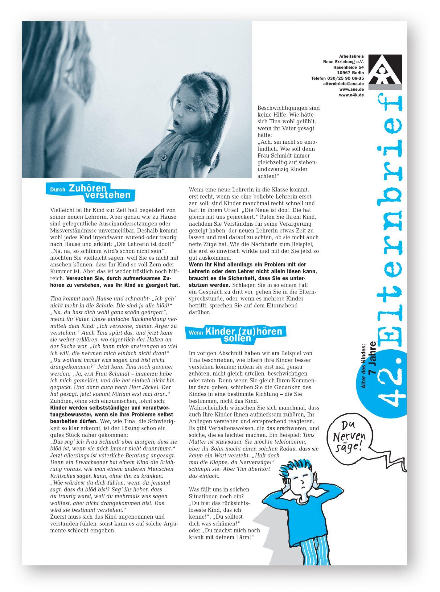 Elternbrief mit Illustration und Foto - Typoly