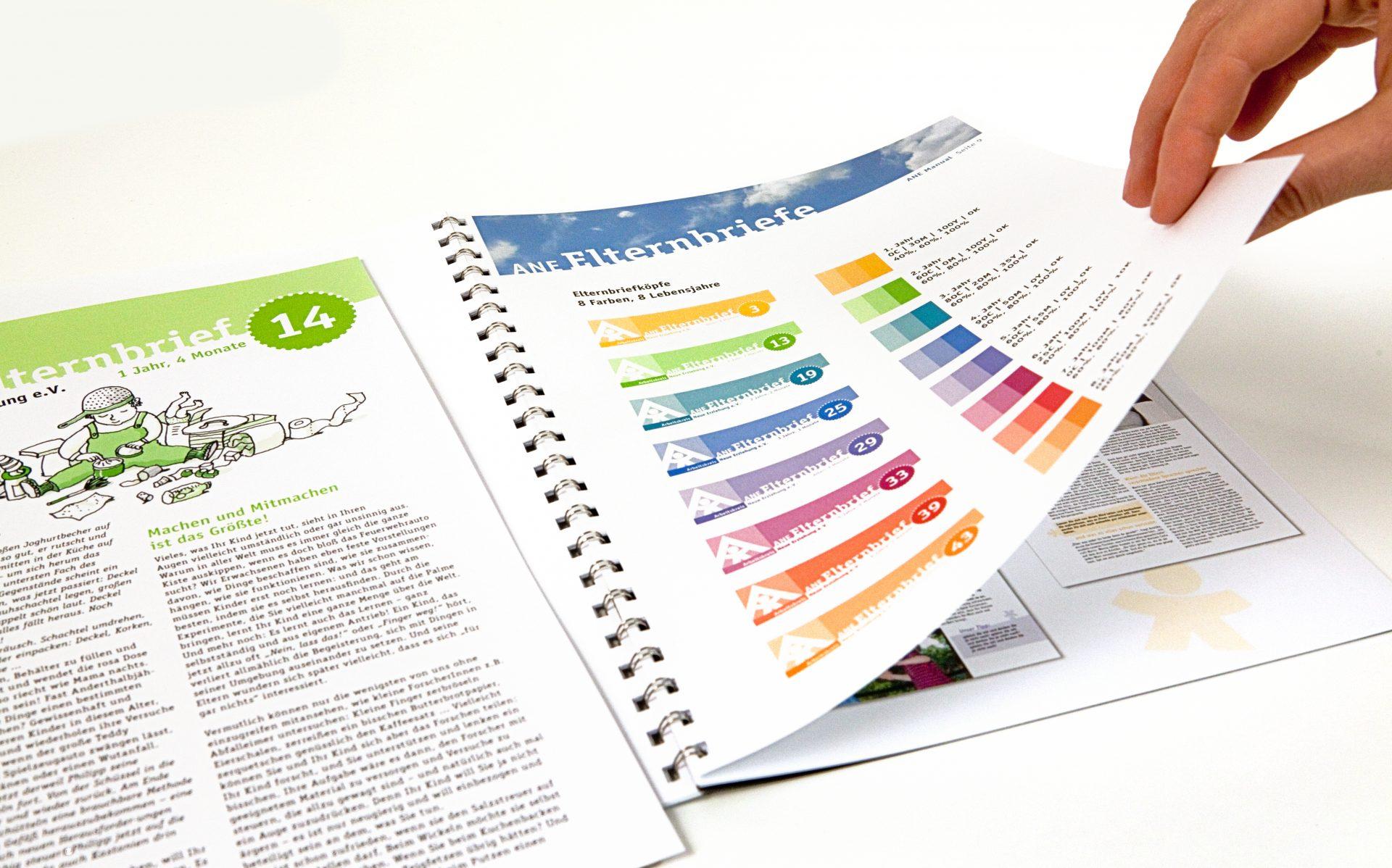 Styleguide mit Farbkonzept - Typoly