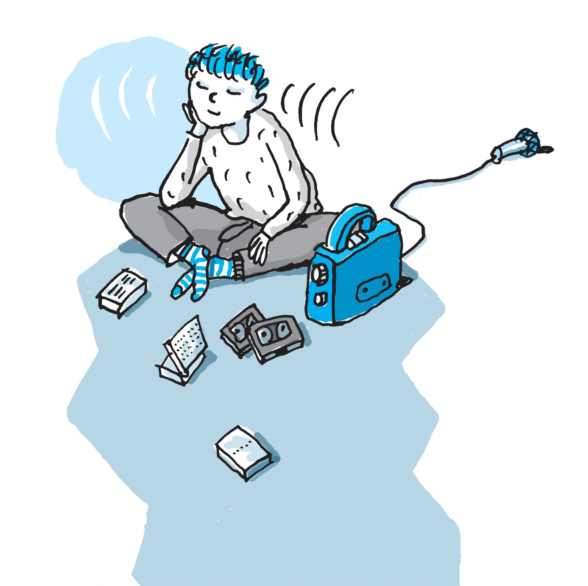 Illustration Kind für ANE Elternbriefe- Typoly