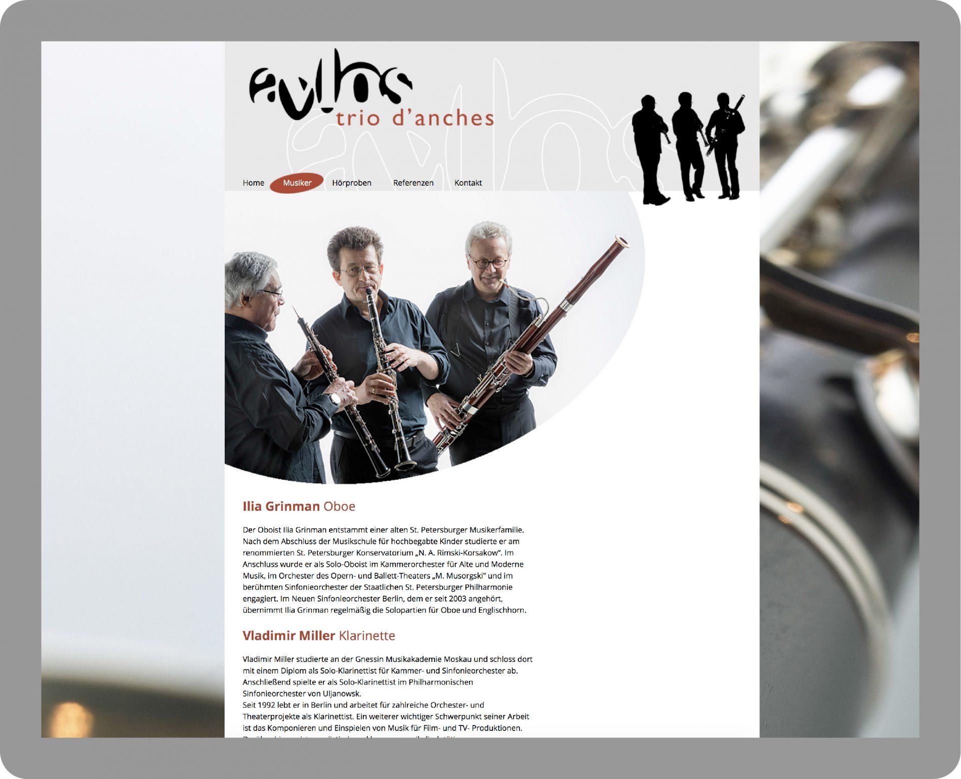 Webseitengestaltung Avlos - Typoly