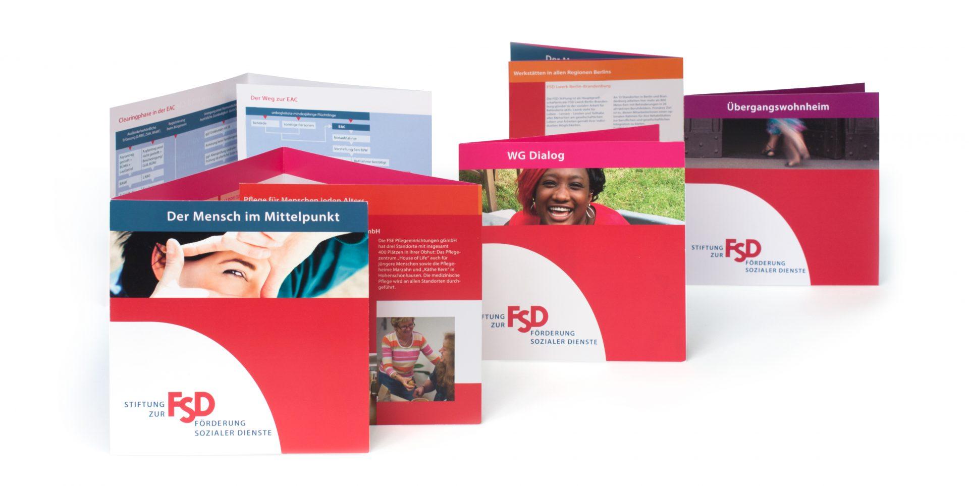 Flyer für die FSD-Stiftung - Typoly