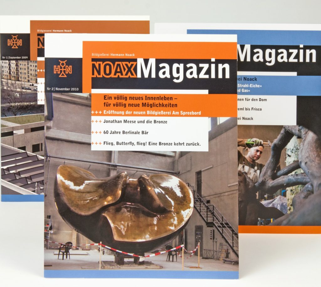 Editorial Design - NOAX - Imagemagazin der Bildgießerei Noack