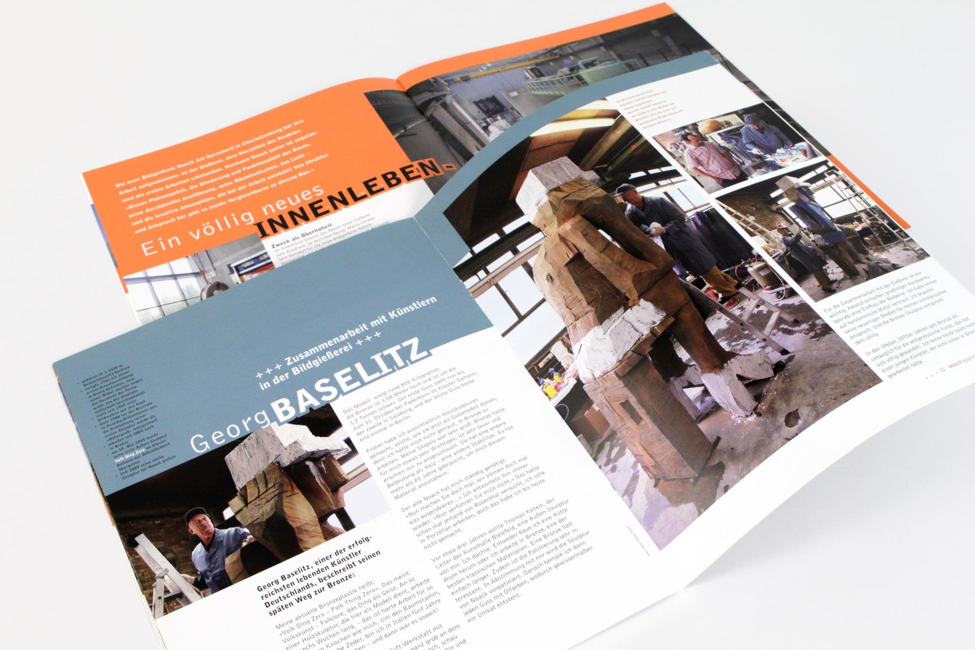 Noax Kundenmagazin Doppelseiten - Typoly