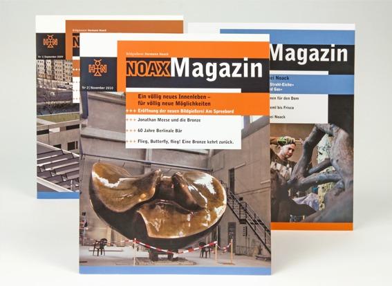 Imagemagazin Noax - Titelseiten Gestaltung - Typoly