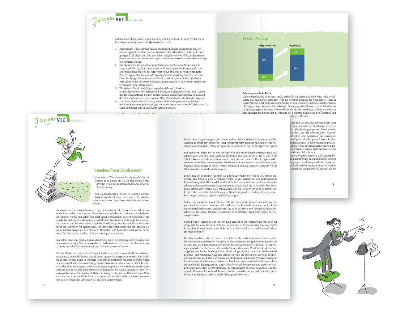 Seitengestaltung mit Illustrationen und Grafiken im Corporate Design - Typoly