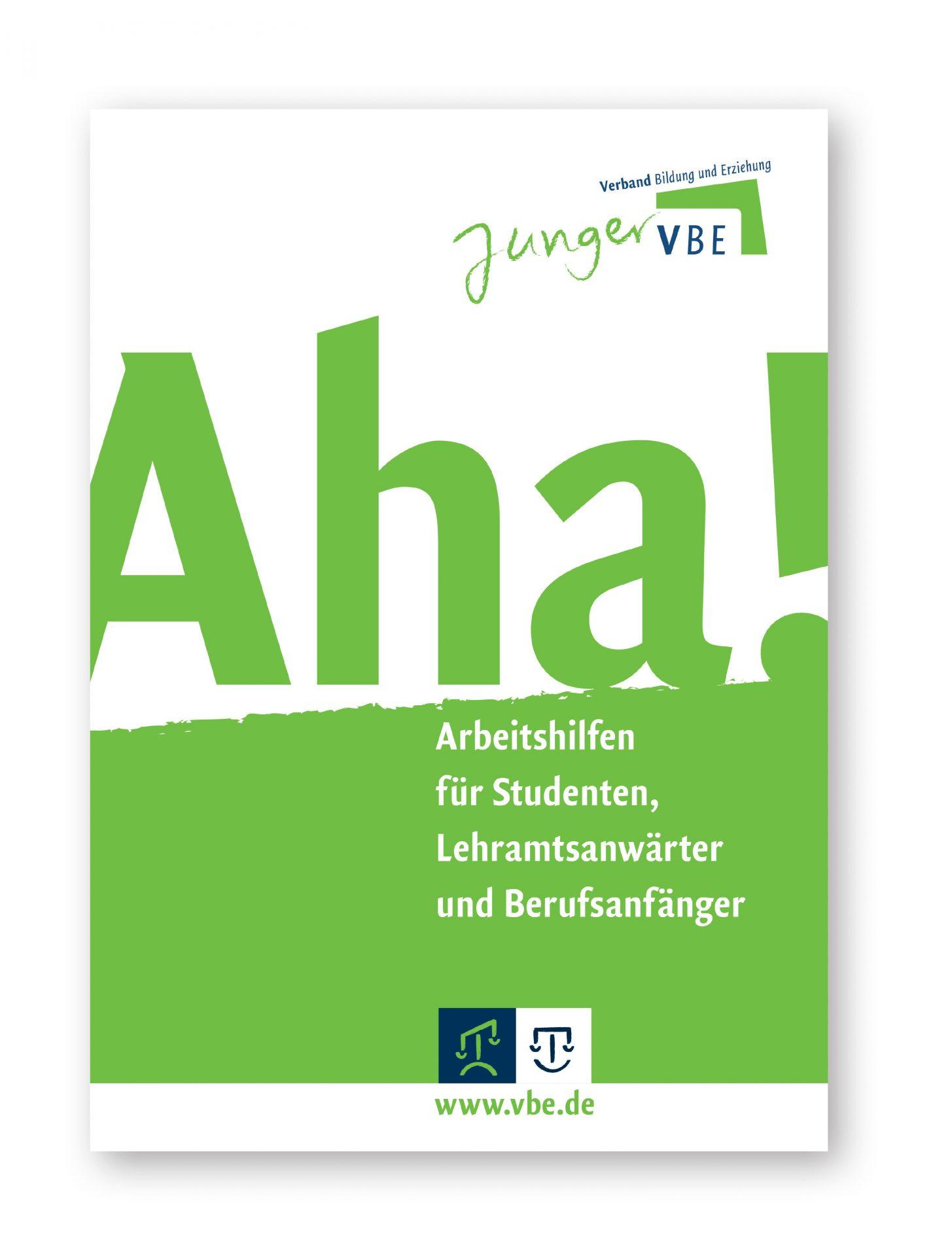 Titelseite der Informations-Broschüre AHA - Typoly