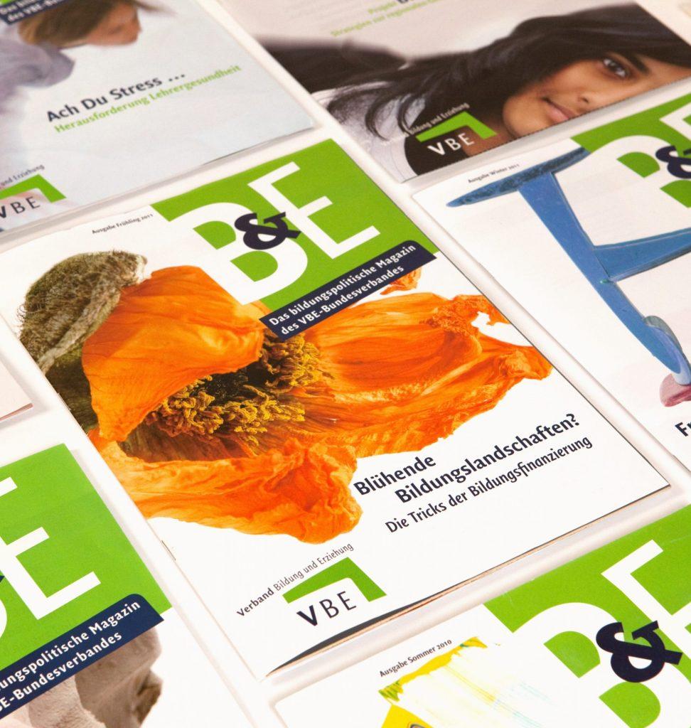 Editorial Design - Magazine und Broschüren für VBE Lehrerverband