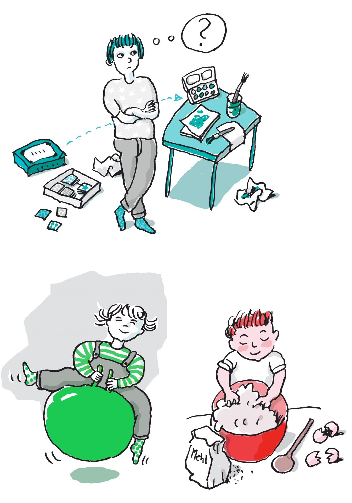 Kinderillustrationen ANE Elternbriefe - Typoly