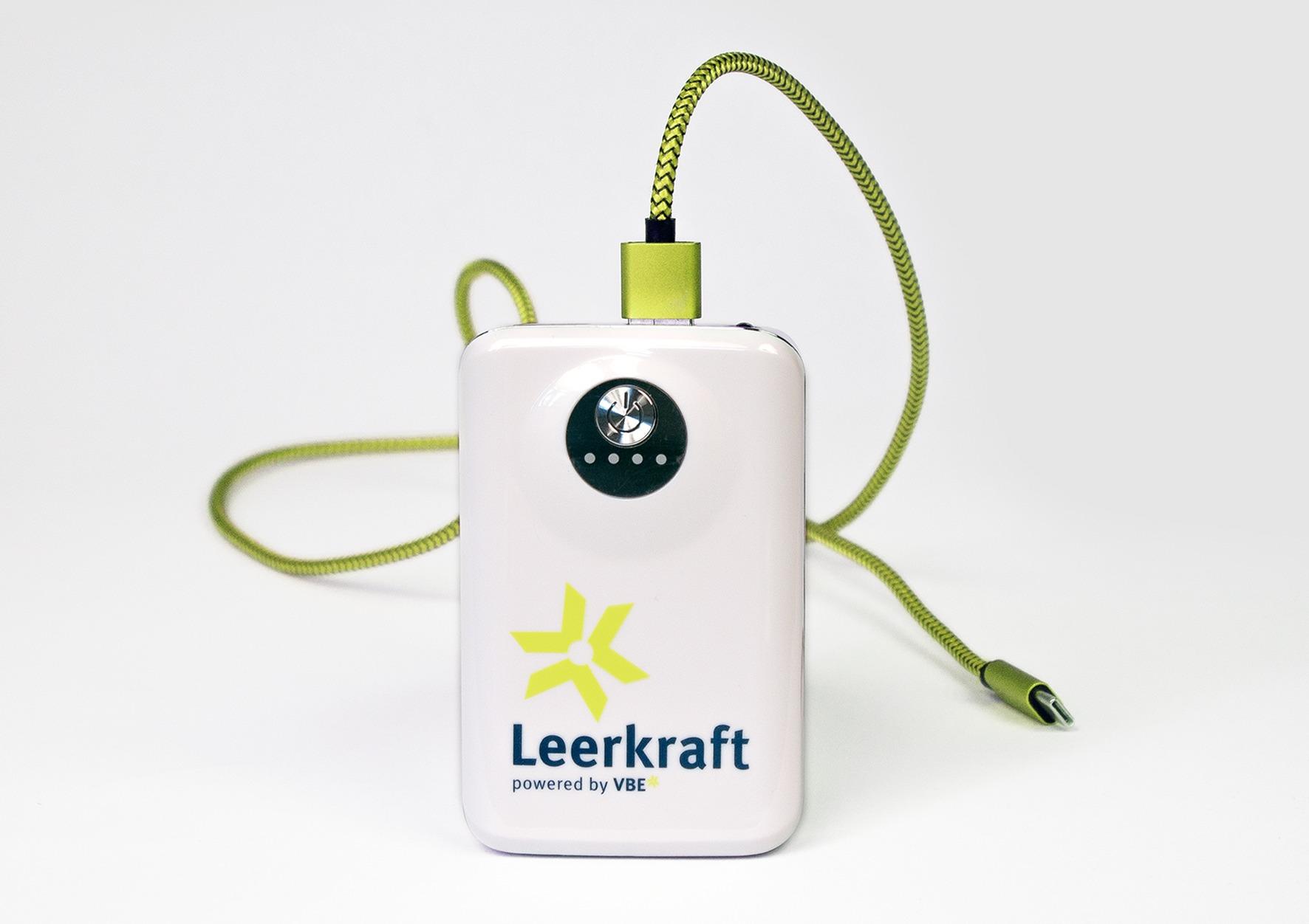 Powerbank als Prämie mit Slogan und Logo bedruckt - Merchandizing - Typoly