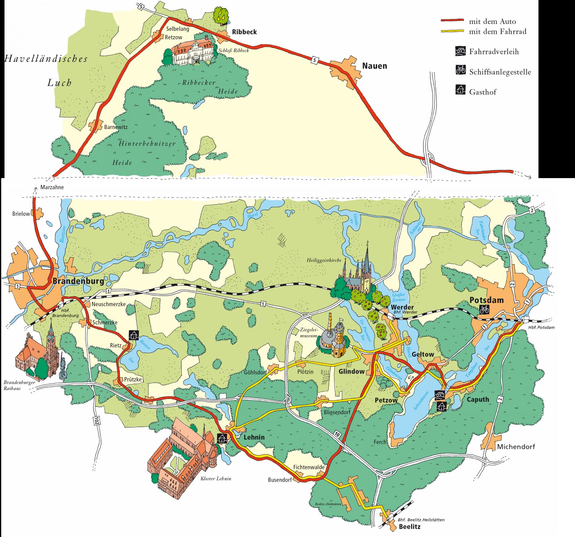 Stadtplan mit 3D-Zeichnungen von Gebäuden - Typoly