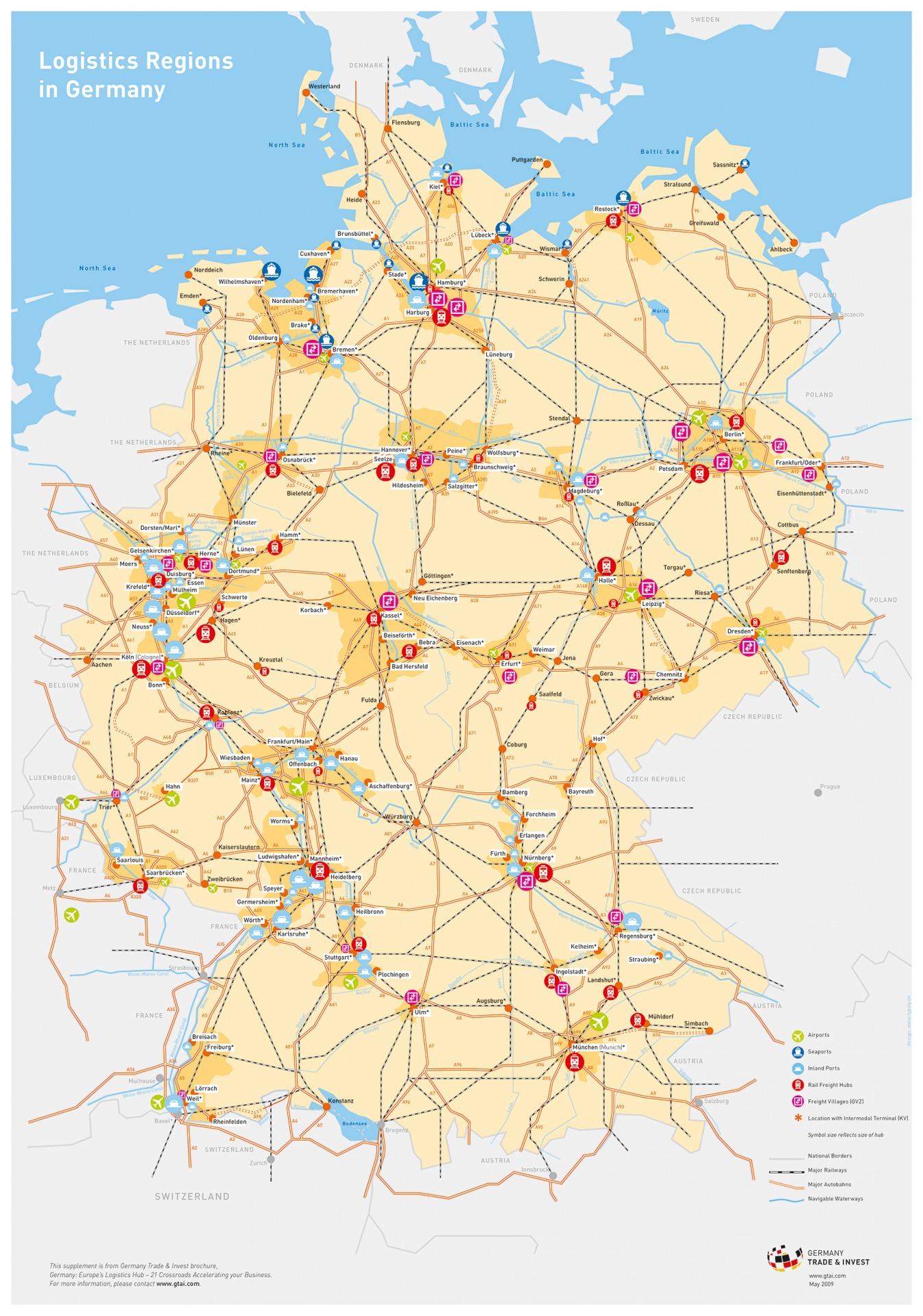 Plakat deutsche Verkehrswege - Typoly