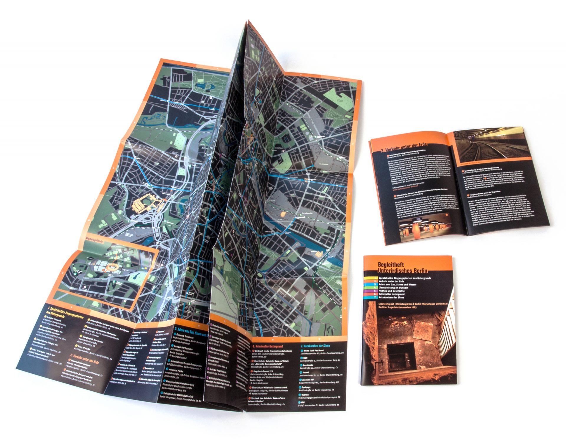 Stadtplan unterirdisches Berlin - Typoly