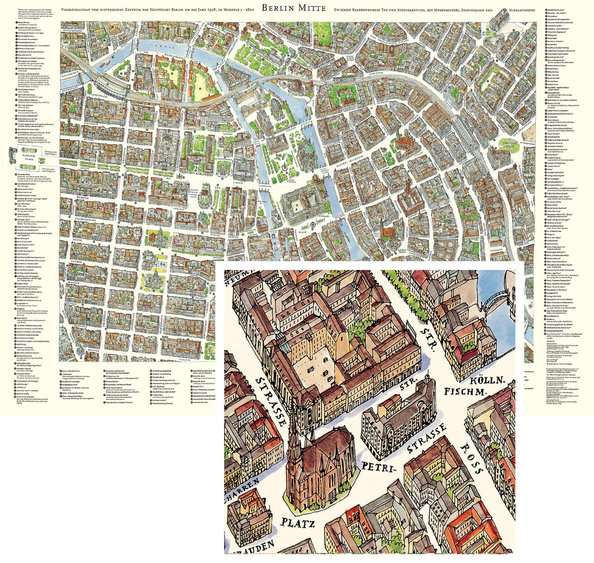 historischer Stadtplan von Illustratorin Theres Weishappel - Typoly