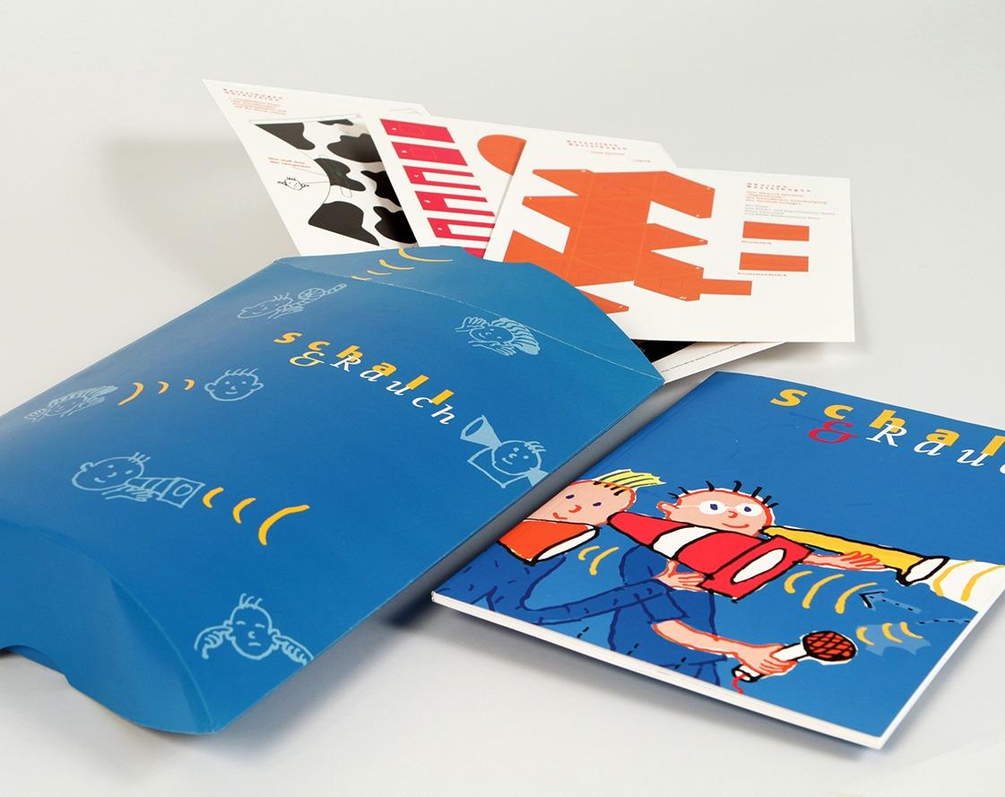 Gestaltung von Verpackung, Bastelbögen, Katalog