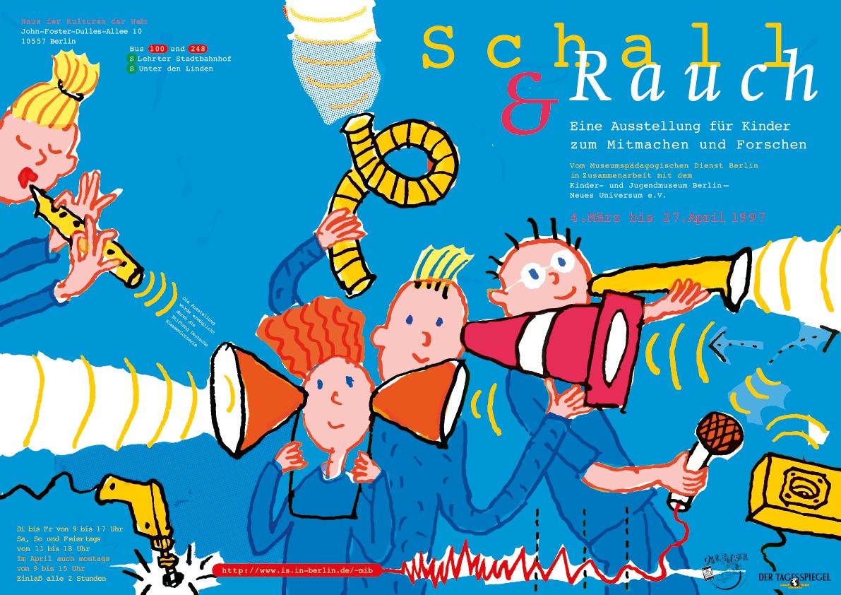 """Ausstellungsplakat """"Schall und Rauch"""" Kindermuseum - Typoly"""