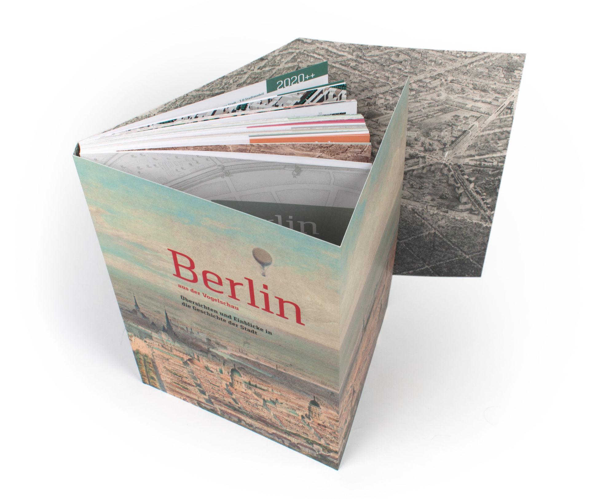 Buchgestaltung Cover Berlin aus der Vogelschau