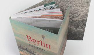 Buchgestaltung Cover Berllin aus der Vogelschau
